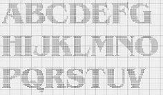 Image result for block letters cross stitch pattern