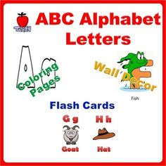 1000 images about teaching ideas resources on pinterest for Educational coloring pages abc flash cards
