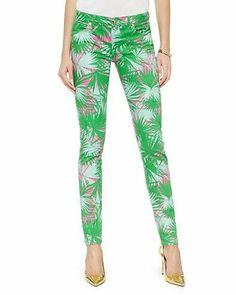 Summer Palm Skinny Jean