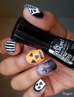 Pinezoe Blog Nail Art:Halloween nails