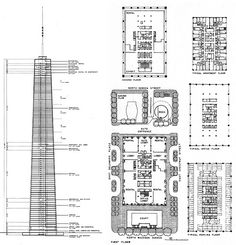 Virginia Duran Blog- Chicago Best Buildings for Architects - John Hancock Tower by SOM Plan and section
