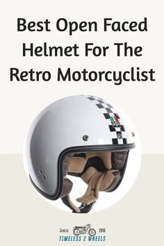 A cool ride requires a cool lid - here's my top 5 open faced helmets for the retro motorcyclist Retro Motorcycle Helmets, Bike Helmets, Bicycle Helmet, Biker Gear, Cool Bikes, Top, Cycling Helmet, Crop Shirt, Shirts