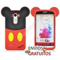 si llegaste ahora buscando protección para tu Smartphone, te doy la enhorabuena porque estas en la tienda regalos baratitos, donde la funda o carcasa de tus sueños se hace realidad, como es el caso de la Carcasa silicona divertida diseño Mickey para LG G3