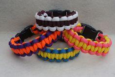 Cobra Stitch Paracord Survival Bracelet by RicCordWorks on Etsy, $6.00