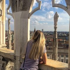Fellow tourist enjoying a view of #Milan, #Italy from the roof of the Duomo aka Milan Cathedral. #Blogville #shabl #inLombardia - Instagram by bloggeries