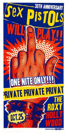 SEX PISTOLS gig poster (Live at the Roxy 2007)