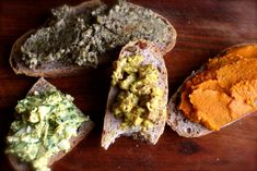 vegetarisch broodbeleg deel 1: linzenhummus, tofoe-curry, groentenpreparé, eiersalade