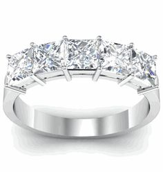 GIA-Certified Diamond Five Stone Ring - click to enlarge