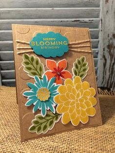 Flower Fair Framelits and Flower Patch Stamp set