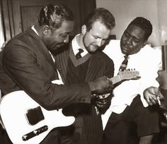 Chas McDevitt considers branching out from skiffle - with Muddy Waters and Otis Spann