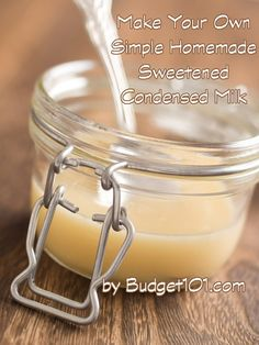 Learn how to make your own Sweetened Condensed Milk instantly at home with this simple 3 ingredient recipe Homemade Sweetened Condensed Milk, Condensed Milk Recipes, 3 Ingredient Recipes, Vegetable Drinks, Food Staples, Powdered Milk, Baking Tips, Cooking Recipes, Dairy Recipes