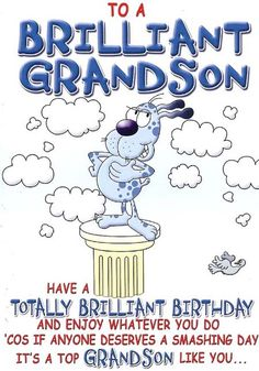 Grandson birthday greeting card to my very special grandson birthday wishes for teen grandson to a brilliant grandson ref 4611 approx 13cm x 19cm bookmarktalkfo Gallery