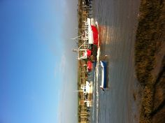 One of Rye's fleet of fishing boats heads out to sea through Rye Harbour