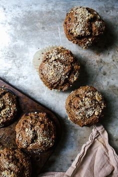 These buckwheat banana muffins are naturally gluten-free and free of refined sugar. Made with buckwheat flour, oats, and alond flour!