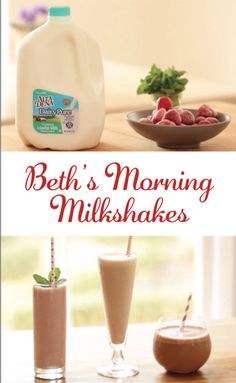 Beth's Morning Milkshakes: Surprise yourself and delight your kids with these absolutely delicious morning milkshakes. Made with no ice cream, these milkshakes use all natural ingredients starting with DairyPure milk that is backed by their 5-Point Purity Promise! Try all three flavors: Strawberry-Mint to wake up your senses, Peanut Butter to pack in the protein and Chocolate-Banana for a tasty but all-natural healthy morning milkshake!