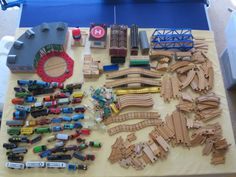 well-loved Thomas train set - $250 (as-is)  100+ pieces of track alone plus many engines. Condition varies greatly depending on the piece.