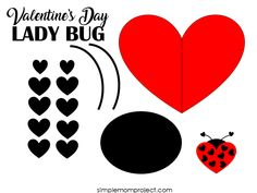 See this post for a FREE printable template to make your own Valentine's Day Lady Bug! This simple DIY Lady Bug Valentine's Day card is an easy craft for toddlers, big kids and adults to make. Great for classroom Valentine's Day art projects. Kinder Valentines, Valentines Bricolage, Valentine Crafts For Kids, Valentines For Kids, Valentine Cards, Easy Toddler Crafts, Valentine's Day Crafts For Kids, Kids Diy, Printable Crafts