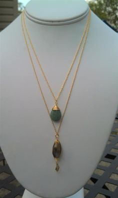 $32 Pre Layered Necklaces - Gold, Green & Brown