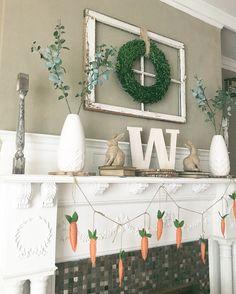 Easter fireplace farmhouse decor!
