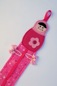 Custom Order For Melissa - Babushka Hairclip Hanger