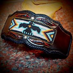 Finished up the Leatherwork on this cuff I'm making for myself. Metal work is next! #customleather #leathercuff #matara #nativeamerican #cowboy #western #rockstar #madeinbrooklyn #liveloveleather