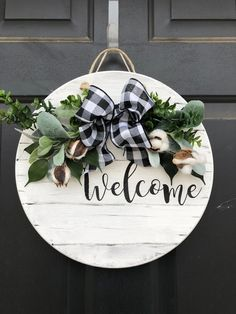 Your place to buy and sell all things handmade Front Door Decor, Wreaths For Front Door, Door Wreaths, Citronella Candles, Mason Jar Candles, Crafts To Make, Diy Crafts, Wood Crafts, Wooden Welcome Signs