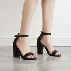 Sexy Sandals Ankle Strap heels Womens Pumps Shoes Chunky Heels Summer Sandals for women pumps thick high heels party shoes Ankle Strap Block Heel, Ankle Strap Sandals, Sexy Sandals, Summer Sandals, Heeled Sandals, Women Sandals, Ankle Straps, Summer Shoes, Gladiator Sandals