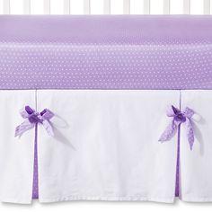 Sweet JoJo Designs Lavender Suzanna Crib Bedding Set - Lavender, White