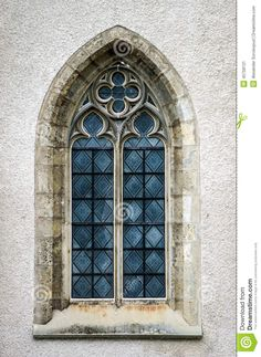 Beautiful Medieval Church Window, Ideal Form Stock Image - Image of culture, beautiful: 45758131 Art Et Architecture, Watercolor Architecture, Historical Architecture, Architecture Details, Gothic Windows, Church Windows, Interior Design Presentation, Architectural Section, Stock Image