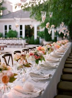 Wooden Farm Tables with Rustic Centerpieces, Gold Rim Glass Chargers, Silverware, Linen Napkins & Place Cards Banquet Tables, Reception Table, Wedding Table, Our Wedding, Farm Tables, Sparkly Mason Jars, Wedding Decorations, Table Decorations, Rustic Centerpieces