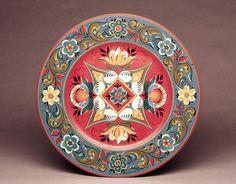 rosemaling   Eldrid Arntzen Hallingdal plate