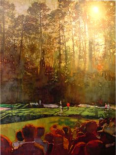 Augusta {note the trees and sunlight- Fuchs was a master at this effect} by Bernie Fuchs