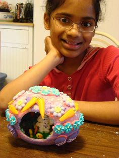 Beautiful Olivia with the sugar egg she decorated! 2011 ThisLife
