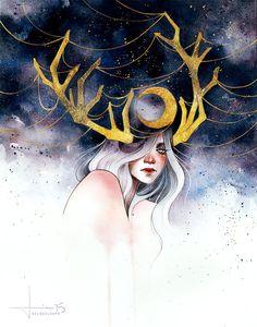 """inspirationofelves: """" La Lune by kelogsloops """""""