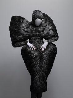 McQueen Black Duck Feathers Fall 2009, @ the Met