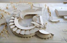 Ricardo Porro et Renaud de La Noue, architectes │ Collège 600 Maquette Architecture, Architecture Model Making, Architecture Concept Drawings, Pavilion Architecture, Landscape Architecture Design, Light Architecture, Amazing Architecture, Arch Model, Modelos 3d