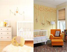 babyzimmer-gestalten-geschlechtsneutral-dreiecke-punkte-muster ... - Babyzimmer Gestalten Neutrale Mottos