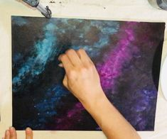 Galaxy Painting - Step By Step Acrylic Painting Tutorial Galaxy Painting Acrylic, Acrylic Painting Lessons, Acrylic Painting Tutorials, Painting Videos, Painting For Kids, Painting Canvas, Canvas Art, Fantasy Paintings, Art Paintings