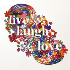 Custom Quilled Lettering  Live Laugh Love by jabateau on Etsy, $125.00