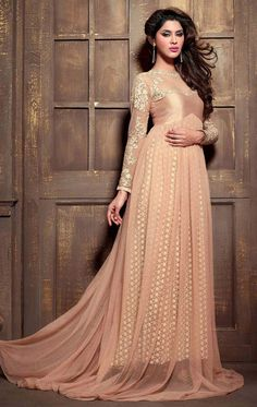 Show details for Lush Rosy Brown Color Anarkali Suit