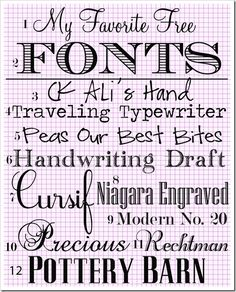 My Favorite Free Fonts