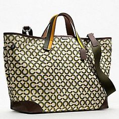 OP ART SHADOW C CANVAS TRAVEL TOTE -- my diaper bag