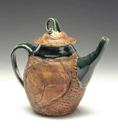 Teapot in Teal, with Ginkgo | Flickr - Photo Sharing!