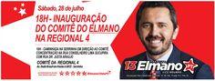 Às 18h deste sábado (28), vamos inaugurar o Comitê da Regional 4. Compareçam! #Elmano13doPT