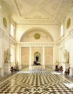 18TH CENTURY, England - Entrance Hall, at Syon House, c. 1761-5, Middlesex, by Robert Adam (1728-1792).