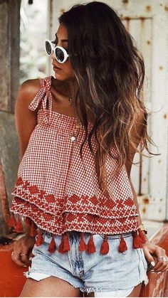 Cute Summer Outfits For Women And Teen Girls Casual Simple Summer Fashion Ideas. Clothes for summer. Summer Styles ideas Trending in Cute Summer Outfits, Trendy Outfits, Cute Outfits, Fashion Outfits, Style Fashion, Casual Summer, Fashion Ideas, Fashion Clothes, Summer Ootd
