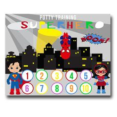 This Printable potty training  chart will keep your preschooler on track and motivate them!