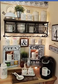 Best Home Coffee Bar Ideas for All Coffee Lovers Best Ho. - - Best Home Coffee Bar Ideas for All Coffee Lovers Best Ho. Best Home Coffee Bar Ideas for All Coffee Lovers Best Home Coffee Bar Ideas for All Coffee Lovers - Coffee Area, Coffee Nook, Coffee Corner, Coffee Time, Cozy Coffee, White Coffee, Espresso Coffee, Coffee Tables, Coffee Bar Station