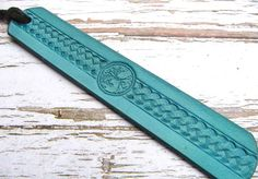 Leather Bookmark Tree of Life Spiritual Book Mark Turquoise