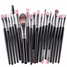 Huade 20 Pieces Makeup Brush Set Professional Face Eye Shadow Eyeliner Foundation Blush Lip Makeup Brushes Powder Liquid Cream Cosmetics Blending Brush Tool *** Details can be found by clicking on the image. (This is an affiliate link) Eye Makeup Brushes, It Cosmetics Brushes, Makeup Tools, Makeup Cosmetics, Cosmetic Brushes, Beauty Brushes, Hair Makeup, Beauty Makeup, Blush Beauty